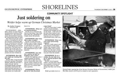 Welder Helps Warm German Christmas Market
